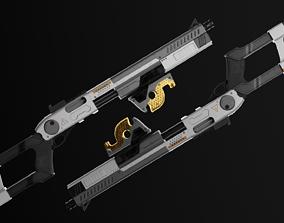 Sci-fi Shotgun Game-Ready 3D asset