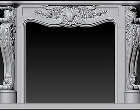 Classical Decorated Fireplace Louis XVI style 3D model
