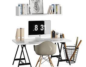 Workplace Scandinavianwooden 3D