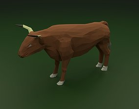 Low Poly Bull 3D model