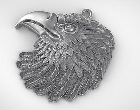 Eagle pendant Jewelry medallion 3D printable model