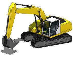 3D Parametric Excavator - Revit Family