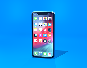 Apple iPhone XR 3D model low-poly