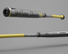 Game Ready Aluminium Baseball Bat 3D asset