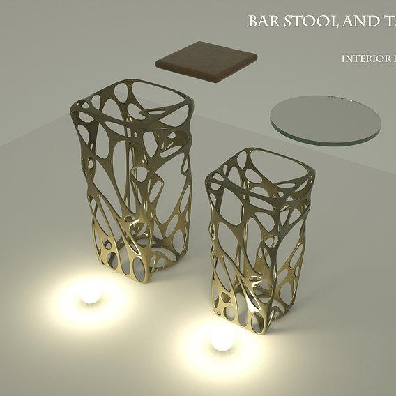 bar seating table