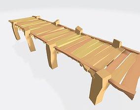 3D model Low Poly Dock Bridge