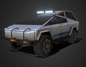 3D model low-poly Tesla Cybertruck Off-road Edition