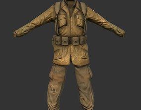 World War 2 American Soldier Uniform 3D model