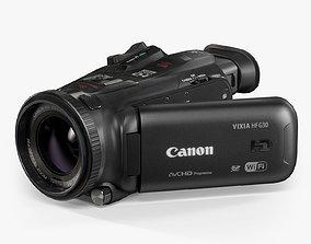 Canon VIXIA HF G30 HD camcorder 3D asset