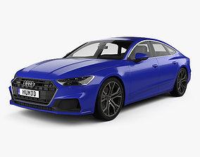 3D model Audi A7 Sportback S-line 2018