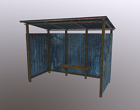 3D model Old Bus Stop