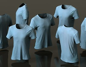 Mens Clothing Green Tshirt 3D model