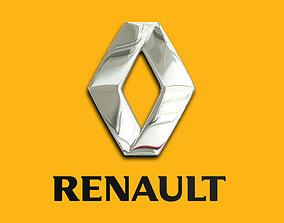 Renault car logo emblem 3D