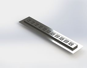 Shower linear drain 3D model