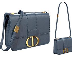 3D model Dior 30 Montaigne Bag Blue Leather