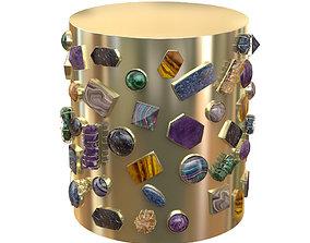 Bejeweled Stool 3D model