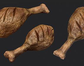 Chicken Leg 3D asset realtime