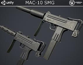 MAC-10 SMG 3D model realtime