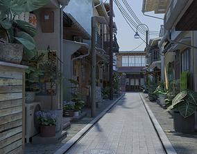 Japanese Street 3D asset