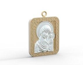 3D print model mother mary pendant