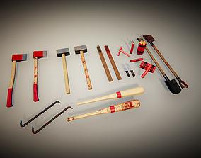 3D model low-poly UKit Survival Weapons