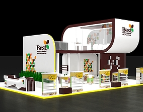 3D model Exhibition Stand Booth 140sqm