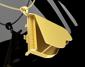 Piano Jewelry Pendant Gold 3D print model