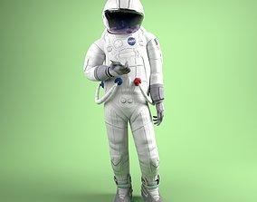3D model animated Cartoon Astronaut