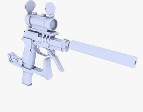 3D asset M93 Raffica Extended Mag