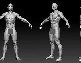 3D asset male body 01