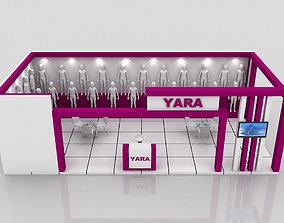 Booth 5x10 meter 3D model
