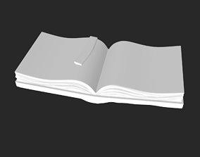 OPEN BOOK 3D model hardcover-book