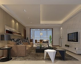 Modern Drawing Room - 08 3D