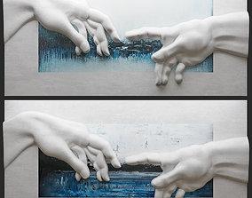 Creation of Adam by Michelangelo 3 3D