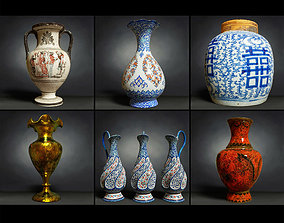 6 Vase Collection 3D asset