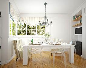 Living-dinning room 3D