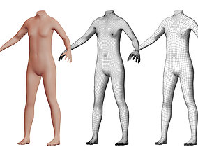 3D Character 11 High and Low-poly - Body male