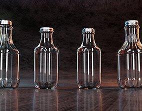 Glass Decanter Bottles 3D model