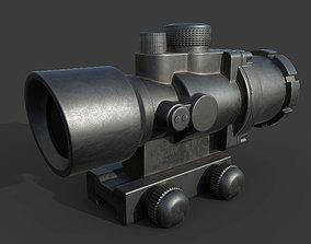 3D model 2x gun scope