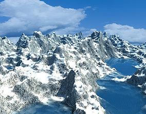 Ice Mountain Environment 3D model
