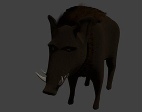 New Low poly wild boar 3D asset