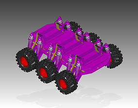 6WD and 4WD Convertible Rover Razor 3D