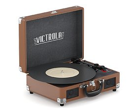 Victrola Vintage Suitcase Record Player 3D