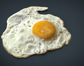 3D model Fried Egg
