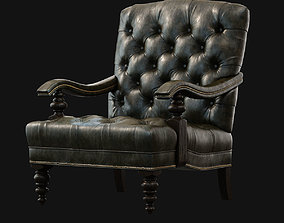 3D model Chair Tommy Bahama Acappella leather