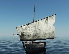 3D model Old Sailing Boat