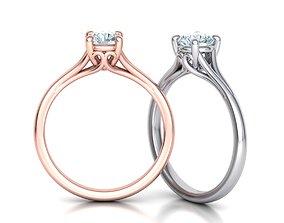Half Carat Diamond ring 3dmodel 4prong design