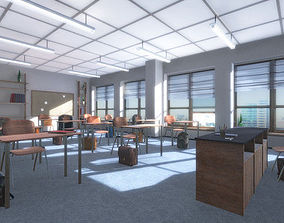 3D asset Classroom - School