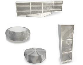 3D model Opto Metallic Furniture