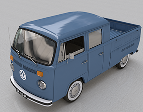 VOLKSWAGEN T2 PICKUP DOUBLE CAB 1974 3D model